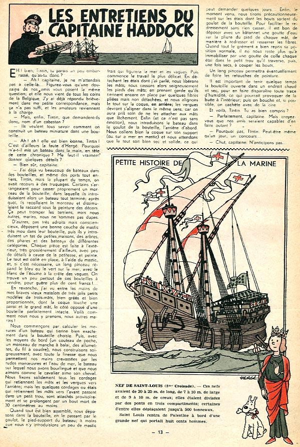 Page n° 13 du Journal de TINTIN édition Belge N° 1 du 2 Janvier 1947