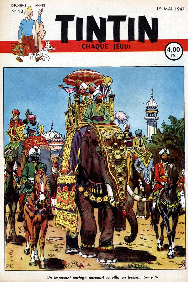Journal de TINTIN �dition Belge N� 18 du 1 Mai 1947