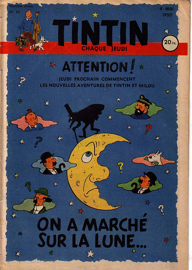 Journal de TINTIN édition Française N° 80 du 4 Mai 1950