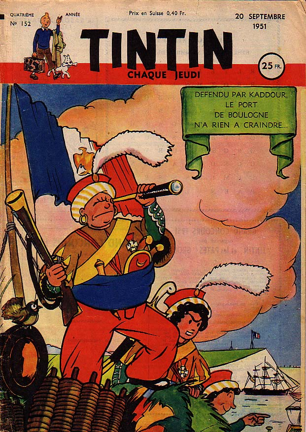Journal de TINTIN �dition Fran�aise N� 152 du 20 Septembre 1951