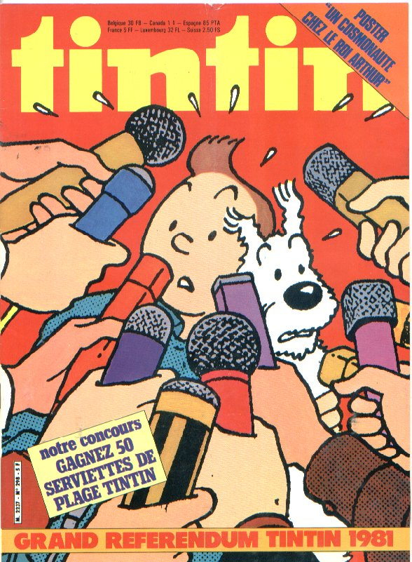 Journal de TINTIN �dition Fran�aise N� 298 du 22 Mai 1981
