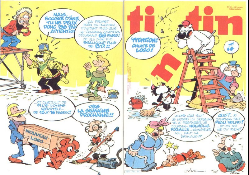 Journal de TINTIN �dition Fran�aise N� 420 du 27 Septembre 1983