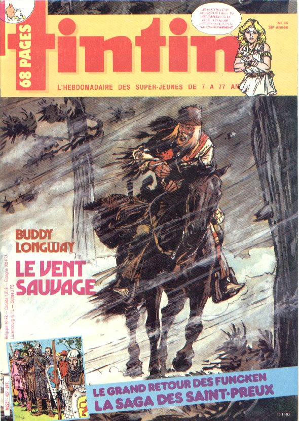 Journal de TINTIN �dition Fran�aise N� 427 du 15 Novembre 1983