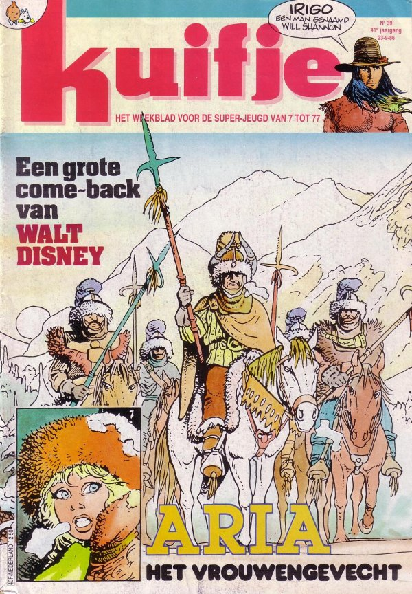 Kuifje weekblad N° 39 du 23 Septembre 1986