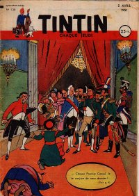 Journal de TINTIN �dition Fran�aise N� 128 du 5 Avril 1951