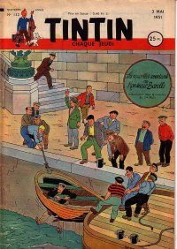 Journal de TINTIN �dition Fran�aise N� 132 du 3 Mai 1951