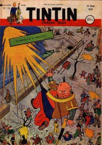 Journal de TINTIN �dition Fran�aise N� 136 du 31 Mai 1951