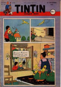 Journal de TINTIN �dition Fran�aise N� 153 du 27 Septembre 1951