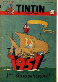 Journal de TINTIN �dition Fran�aise N� 157 du 25 Octobre 1951