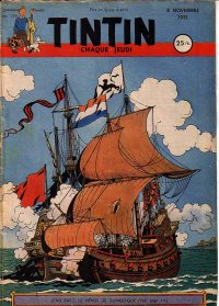 Journal de TINTIN �dition Fran�aise N� 159 du 8 Novembre 1951