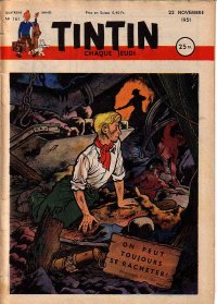 Journal de TINTIN �dition Fran�aise N� 161 du 22 Novembre 1951