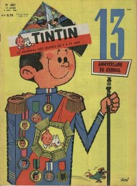 Journal de TINTIN �dition Fran�aise N� 681 du 9 Novembre 1961