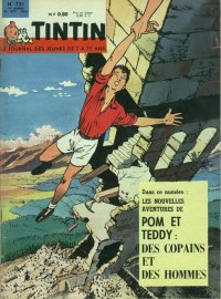 Journal de TINTIN �dition Fran�aise N� 731 du 25 Octobre 1962