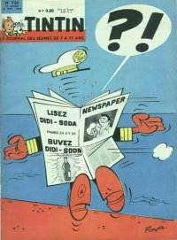 Journal de TINTIN �dition Fran�aise N� 735 du 22 Novembre 1962