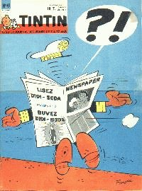 Journal de TINTIN �dition Belge N� 41 du 9 Octobre 1962