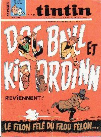 Journal de TINTIN �dition Fran�aise N� 1031 du 1 Ao�t 1968
